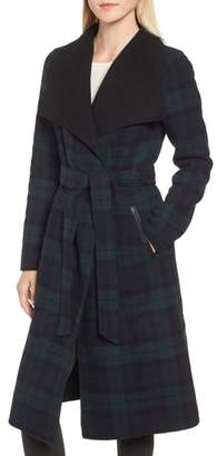 Mackage Double Face Wool Leather Belted Coat