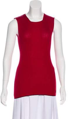 Dolce & Gabbana Sleeveless Rib Knit Top