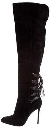 Gianvito Rossi Lace-Up Over-The-Knee Boots