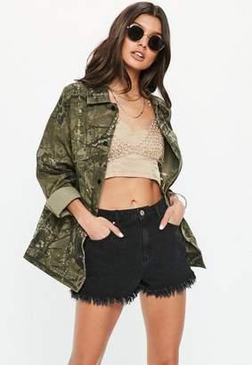 Missguided Khaki Camo Jacket