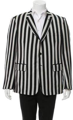 Thom Browne Striped Three-Button Blazer