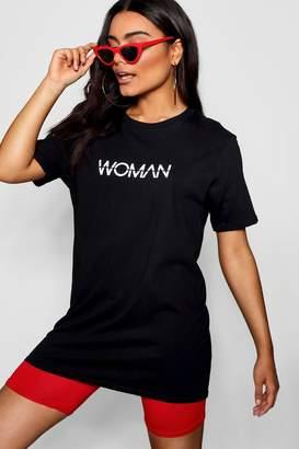 boohoo Rendall Woman Slogan T-Shirt