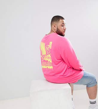 Puma PLUS Long Sleeve T-Shirt With Graphic Print In Pink Exclusive To ASOS