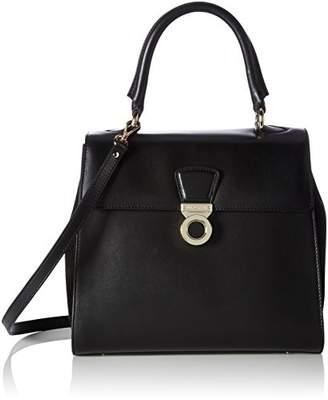 LK Bennett Amy, Women's Shoulder Bag, Schwarz (Bla-black), 14x25x28 cm (B x H T)