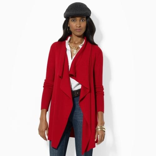 Ralph Lauren Ruffled Wool Cardigan
