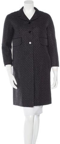 CarvenCarven Tweed Knee-Length Coat