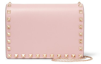 Valentino - The Rockstud Mini Leather Shoulder Bag - Baby pink $1,195 thestylecure.com