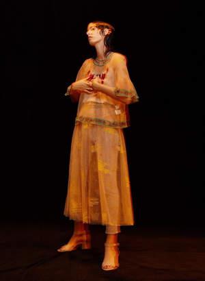 Muveil (ミュベール) - ミュベール 星座刺繍チュールスカート