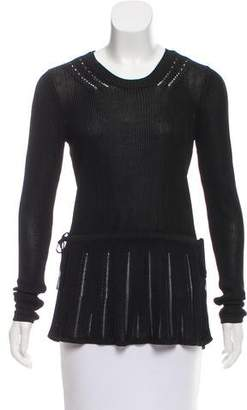 Maiyet Open Knit Long Sleeve Top