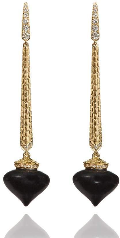 Annoushka Touch Wood Ebony Drop Earrings