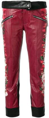 DSQUARED2 printed leather trousers