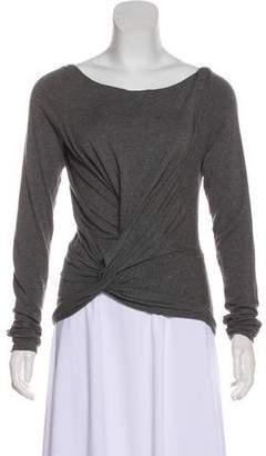 Donna Karan Long Sleeve Knit Top