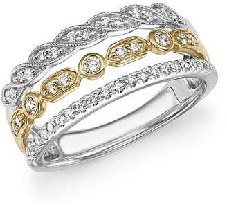 Bloomingdale's Diamond Triple Row Band in 14K Yellow and White Gold, .40 ct. t.w. - 100% Exclusive
