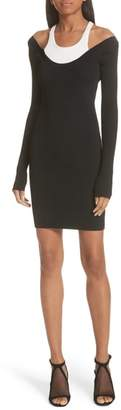 Alexander Wang Layered Racerback Sweater Dress
