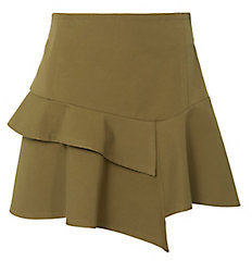 Derek Lam 10 Crosby Asymmetric Ruffle Mini Skirt $350 thestylecure.com