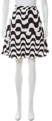 Clements Ribeiro Printed Knee-Length Skirt