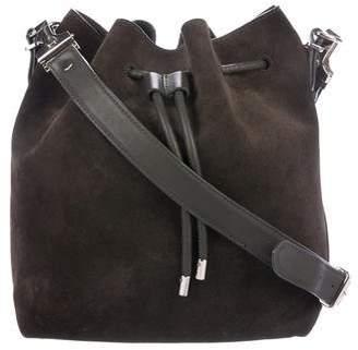Proenza Schouler Leather-Trimmed Suede Bucket Bag