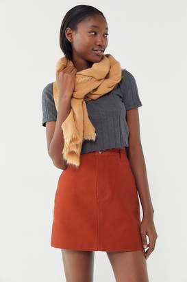 Urban Renewal Vintage Remnants Canvas Utility Mini Skirt