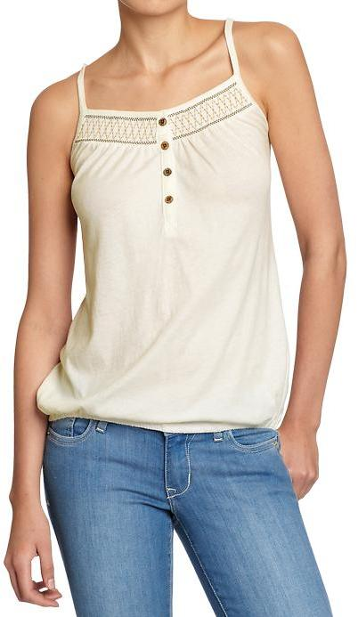 Old Navy Women's Embroidered Button-Front Tanks
