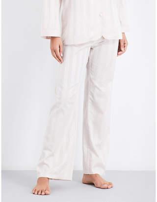 Bodas Striped cotton pyjama bottoms