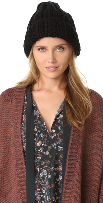 Free People Back to Basic Chunky Rib Beanie $38 thestylecure.com