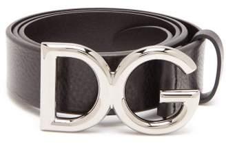 Dolce & Gabbana Buckle Leather Belt - Mens - Black Silver