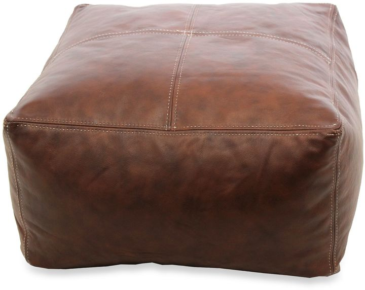 Bed Bath & BeyondLeather Pouf in Brown