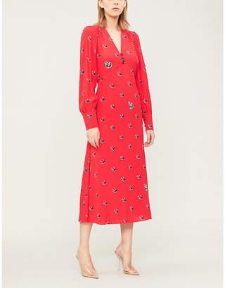 McQ Boudoir graphic-print crepe dress