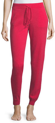 Neiman Marcus Cashmere Collection Cashmere Jogger Lounge Pants $225 thestylecure.com