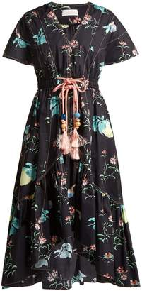 Peter Pilotto V-neck floral-print cotton dress