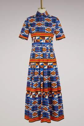 Embroidered Parrot Shirt Dress Stella Jean XrfJC7Svl