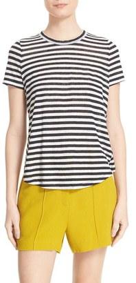 Women's A.l.c. Tesi Stripe Linen Tee $135 thestylecure.com
