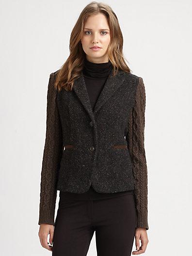 Max Mara Weekend Virgin Wool Cropped Blazer