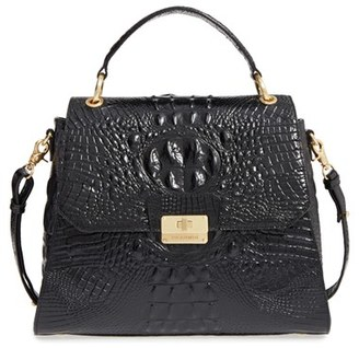 Brahmin 'Melbourne Brinley' Croc Embossed Leather Satchel - Black $345 thestylecure.com