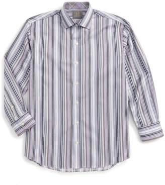 Thomas Dean Stripe Dress Shirt