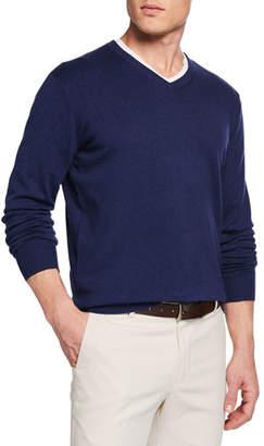 Peter Millar Men's Crown Soft V-Neck Sweater