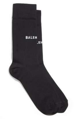Balenciaga Balenicaga Logo Crew Socks