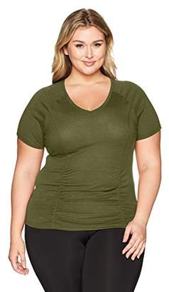 Fruit of the Loom Fit for Me by Women's Plus Size Breathable Shirred T-Shirt
