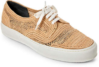 Robert Clergerie Natural Woven Raffia Sneakers