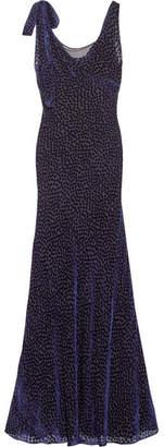 Diane von Furstenberg Devoré-chiffon Gown