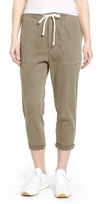 Women's James Perse Relaxed Crop Twill Pants $245 thestylecure.com