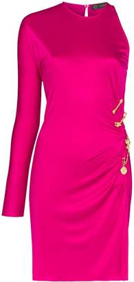 Versace gathered detail mini dress