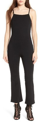 Women's Leith Apron Front Crop Jumpsuit $69 thestylecure.com