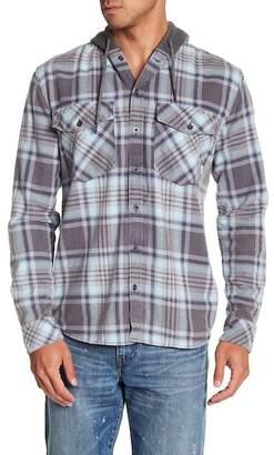 Quiksilver Hooded Plaid Print Regular Fit Shirt