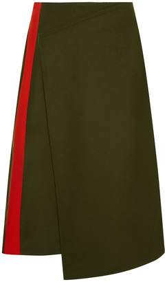 Joseph Page Felt Skirt in Military