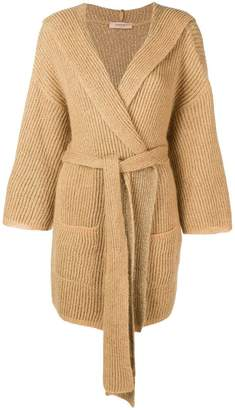 Twin-Set belted cardi-coat