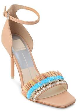 Dolce Vita Women's Hyper Suede & Embellished Raffia High-Heel Sandals