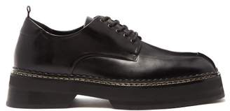 Eytys Chunky Mid Sole Leather Deby Shoes - Mens - Black
