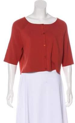 Lafayette 148 Knit Short Sleeve Cardigan