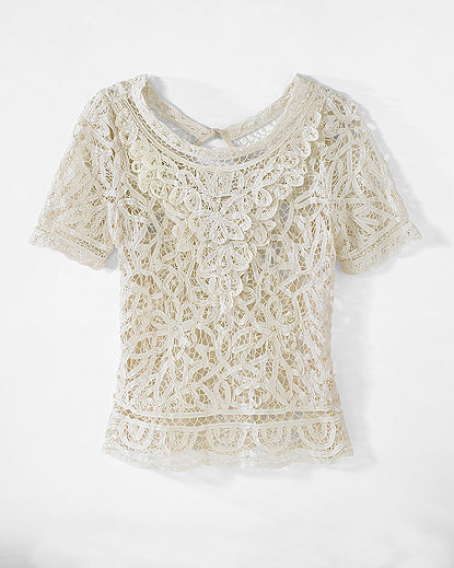 Battenberg Lace Top